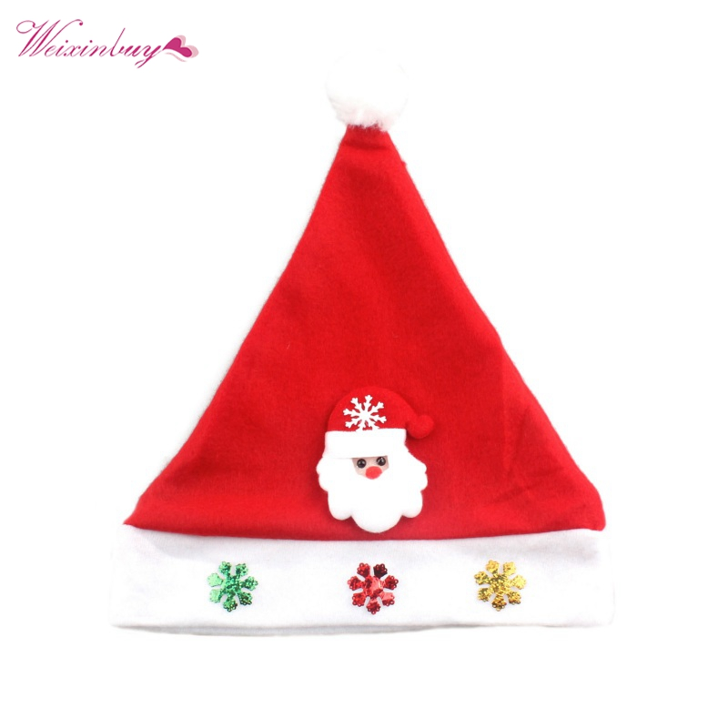 Newborn Baby Christmas Hats Boys Girls New Winter Hat Infant Toddler Snow Man Santa Clau ...
