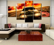 HD Print Painting  5 Pieces Canvas V8 car Wall Art Picture Home Decoration Living Room Decor
