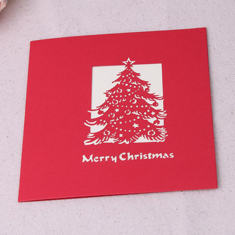 3d Christmas Cards Postcard Greeting Thank You Cards Origami 3d Post ...
