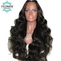 FlowerSeason 5x4,5 шелк базы Full Lace натуральные волосы парики объемная волна с ребенком волос для Для женщин Реми бразильские волос предварительно с