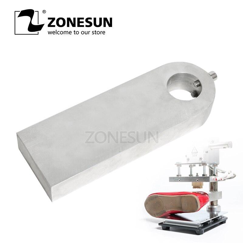 ZONESUN feuille chaude estampage machine plaque de travail conseil pour gaufrage machine gaufrage timbre chaussures en cuir sac à main