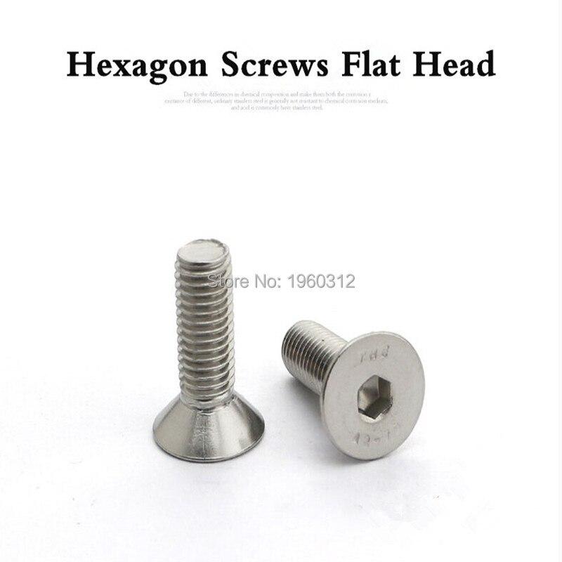 Metric 75 pcs M3 X 8mm DIN 933 18-8 Hex Head Cap Screws Full Thread AISI 304 Stainless Steel