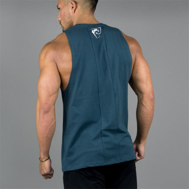 Mens Sleeveless T-shirts Summer Cotton Male Tank Tops High Quality Gyms Bodybuilding Sportswear Clothing Undershirt Tank Tops