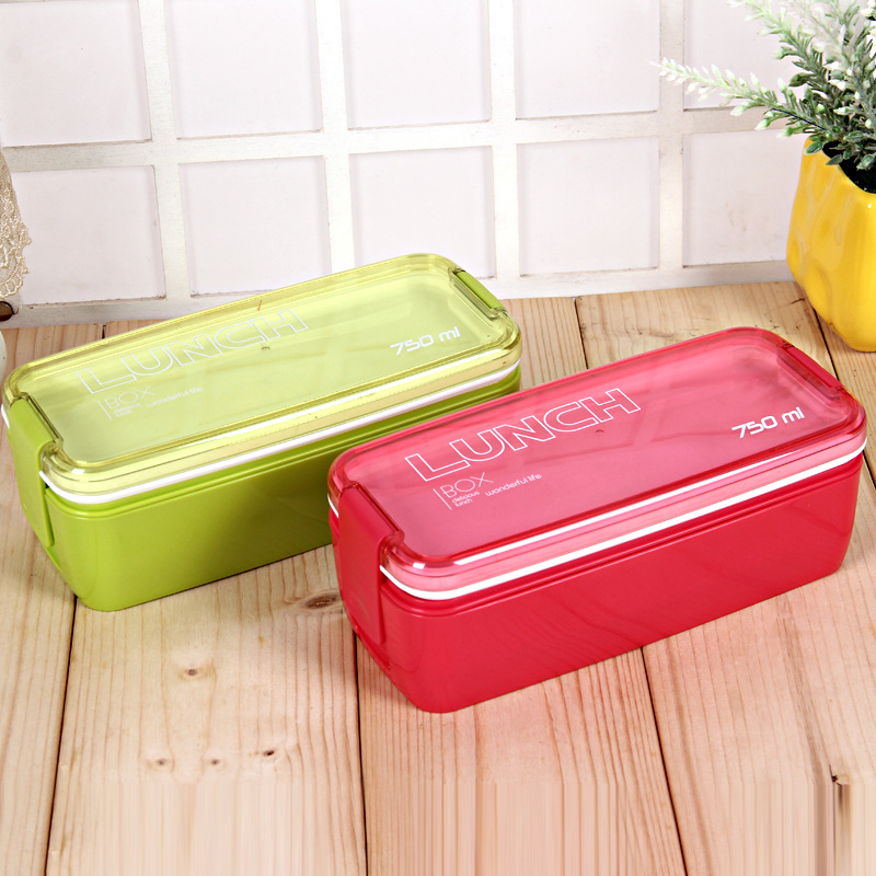 New Design 750ml Collapsible Portable Lunch Box Microwave Oven Lunch Bento Boxes Folding Lunchbox Eco-Friendly ...