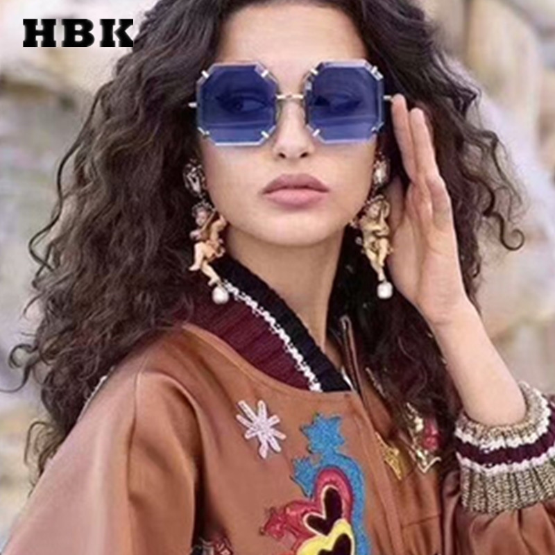 4410a4c601f121 HBK Fashion Square Lunettes De Soleil Modis Unisexe Oculos De Sol Feminino  2019 De Luxe Femmes