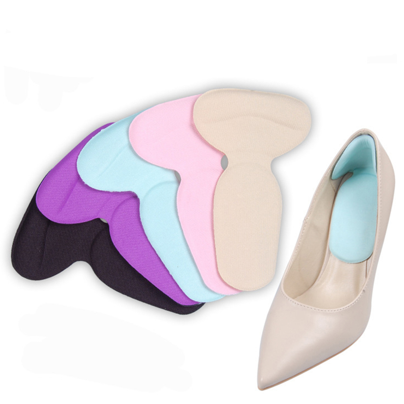 1 Pair Soft T-Shape High Heel Grips Liner Arch Support Orthotic Shoes Insert Insoles Foot Heel Protector Cushion Pads for Women