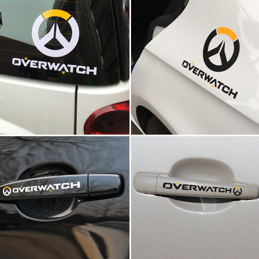 Reflective sticker for overwatch d va bunny figure game dva stickers motorcycle accessories car styling universal in car stickers from automobiles