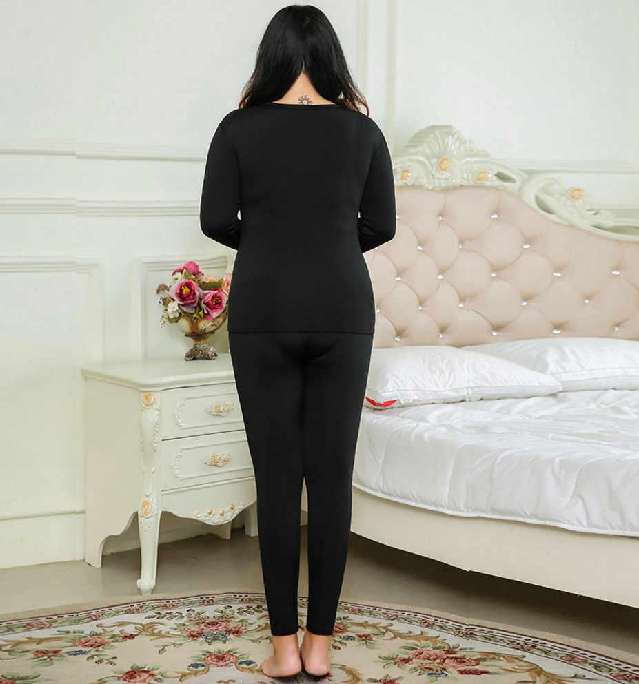 Pyjama ensembles grande taille 6xl hiver chaud femmes thermique polaire ensemble de sous-vêtements femme bonne élasticité doux longs Johns ouc053