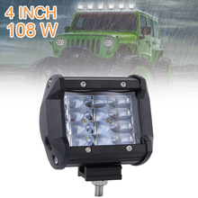 4 Inch 108W 10800LM Quad Row Off Road Combo LED Light Bar Driving Fog Lamps for Jeep SUV ATV UTV Truck Boat Car