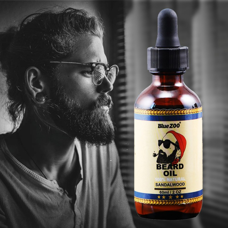 100% Natural Organic Face Beard Oil Soften Hair Growth Nouri