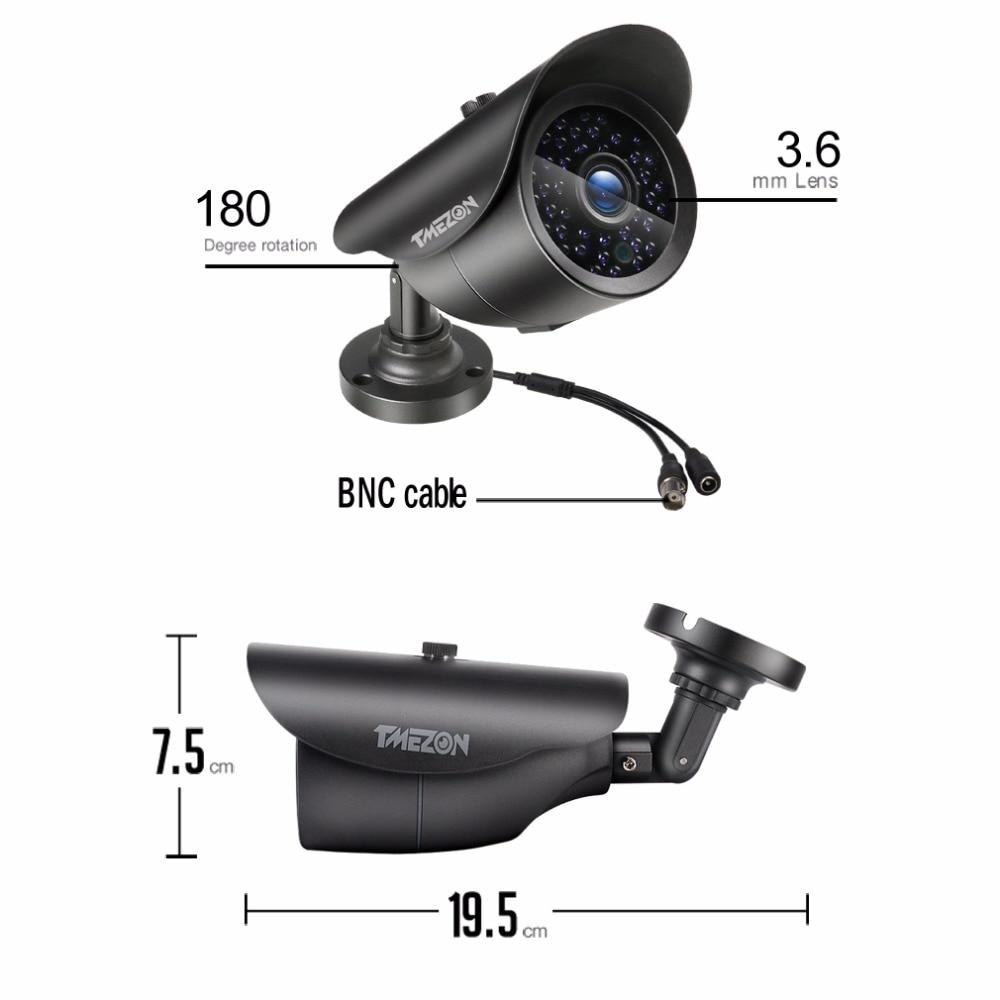 Kamera TMEZON AHD 1080P 2.0MP CCTV s vysokým rozlišením IR LED - Zabezpečení a ochrana - Fotografie 2