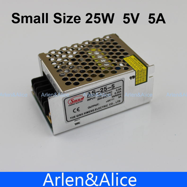 25W 5V 5A  Small Volume Single Output Switching power supply for LED Strip light
