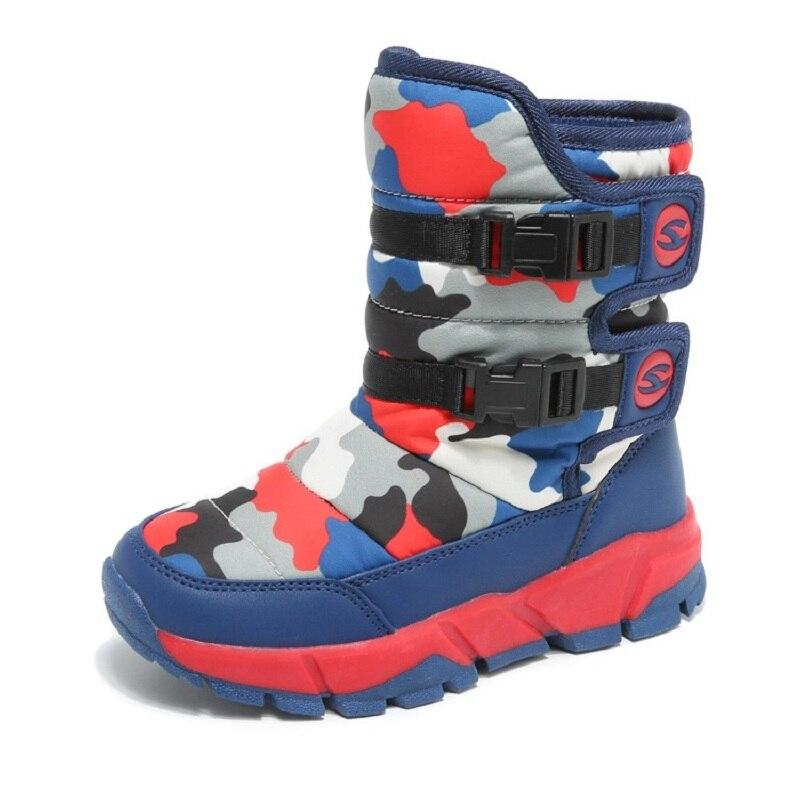 Botas cómodas para niños de media pantorrilla de felpa de fondo suave botas para niñas de algodón AA51121