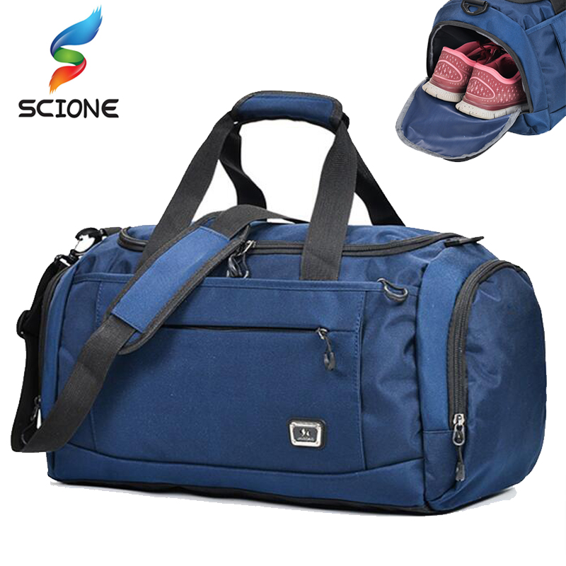 2018 Hot Top Nylon Outdoor Unisex portable Waterproof Sports Gym Bags Professional Men And Women Large Capacity Gym Training Bag