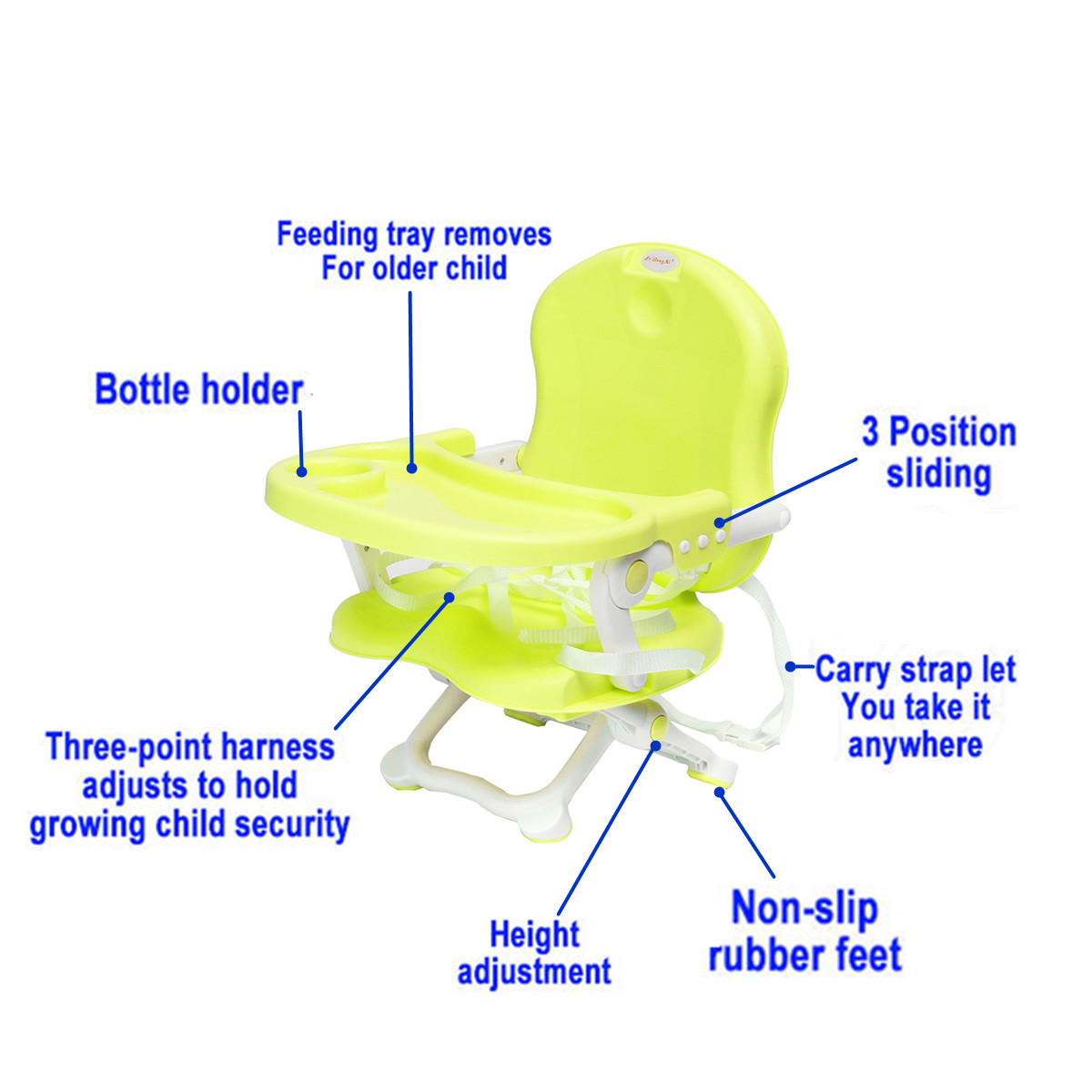 Feeding Chair Foldable Baby Seat Kids For Baby Child Portable Baby Safety Eat Desk Booster Seat Lunch Harness Kid Chair portable baby high chair booster seat kid infant baby dining lunch feeding chair plastic chair folding seggiolone portatile baby