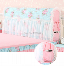 High Quality Romantic Princess bed Bedspread head cover Bed Headboard Cover Wedding Decorative Embroidery Cushion