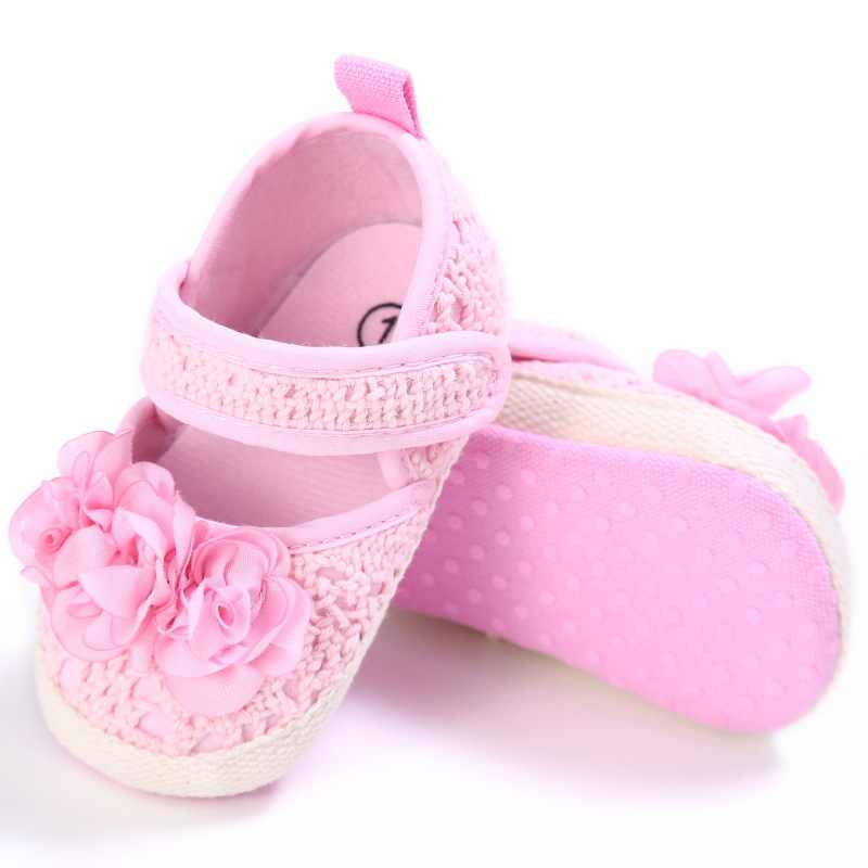 a1da469e8f Autumn Red Mary Jane Flower Infants Crochet Knitted Baby Moccasins Girls  Scarpe Neonata Baby Shoes For Birthday Soft Soled