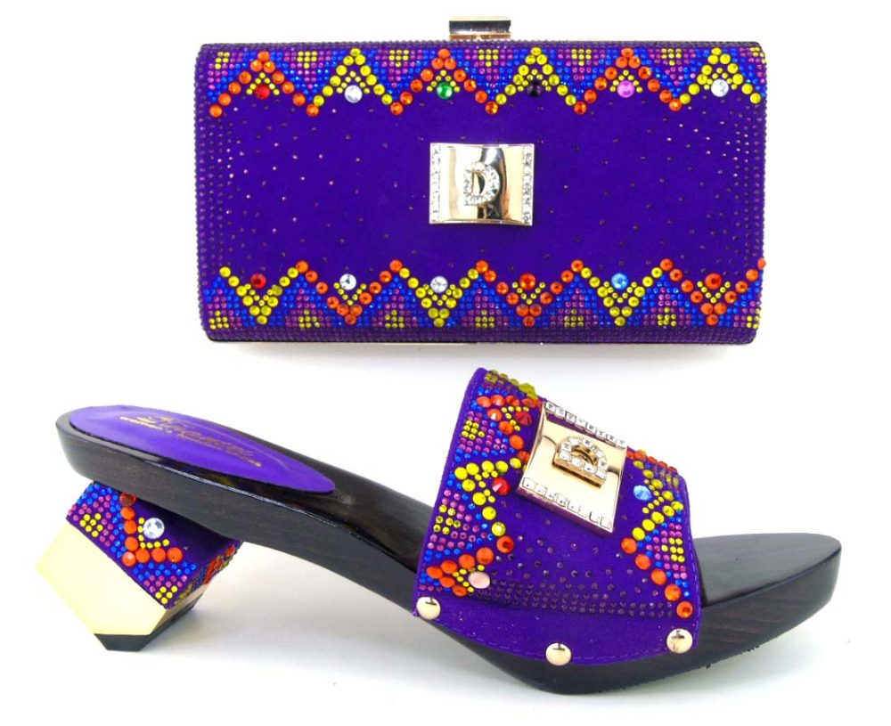 TH16 45 Free shipping African font b woman b font matching party shoes italian shoe and