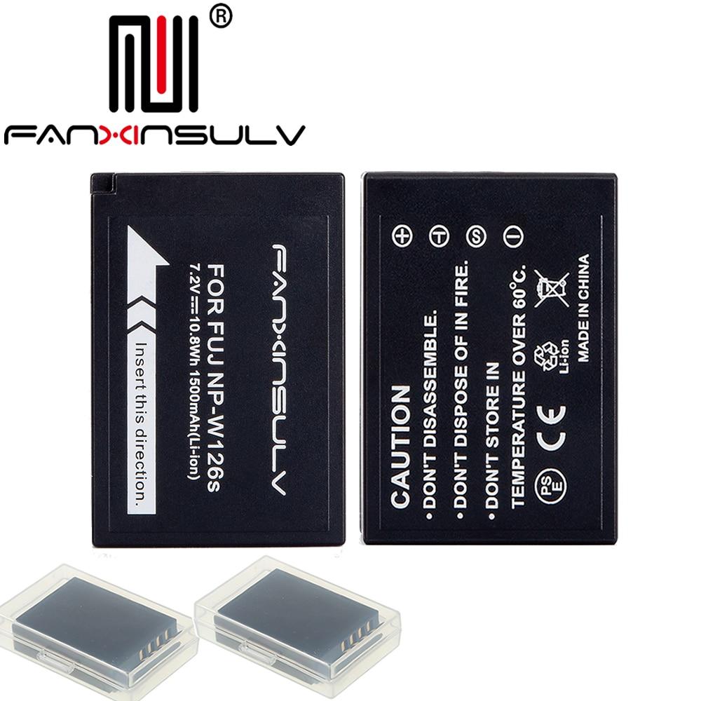 2x NP-W126S NP W126S Batterie + 2 boîtier de batterie pour Fujifilm Fuji XT3 XA5 XT20 XT2 XT1 XH1 XT10 XE3 X100F LE BATEAU AVEC numéro de suivi