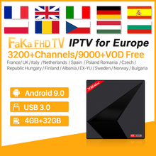 Italia IPTV Subscription Box Full HD IPTV France Arabic Android 9.0 X88 MAX 4G 32G Spain Canada Italy IPTV Turkey Europe IP TV недорого