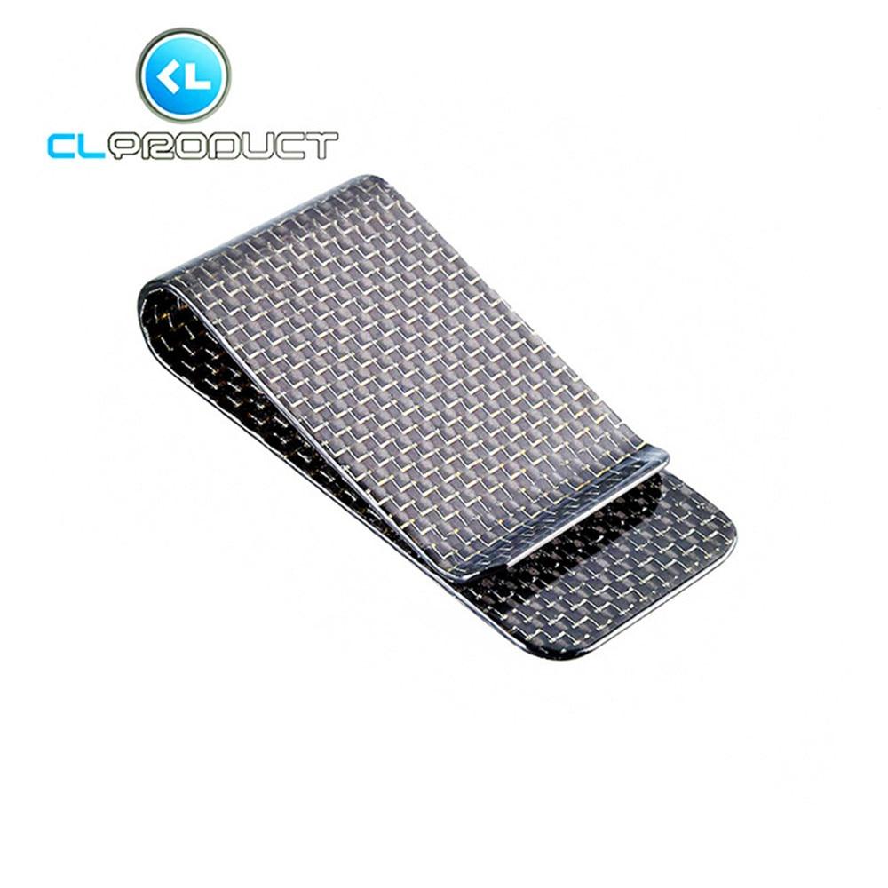 Carbon Fiber Money <font><b>Clip</b></font> Silver Glossy L size - Genuine 3K Twill- Credit Card Business Wallet Money <font><b>Clips</b></font>