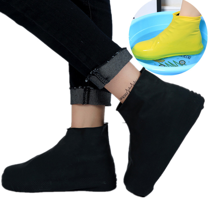 Rain Cover For Shoes Rubber Anti Slip Waterproof Rainny Boot Overshoes Raincoat Reusable Silicone Insoles Shoes For Travel