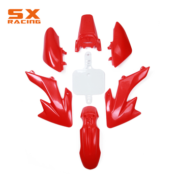 Motorcycle 7 PCS Body Plastic Cover Fender Mudguards Kit Set For HONDA XR50 XR 50 CRF50 CRF 50 Dirt Bike Motocross OFF-Road image