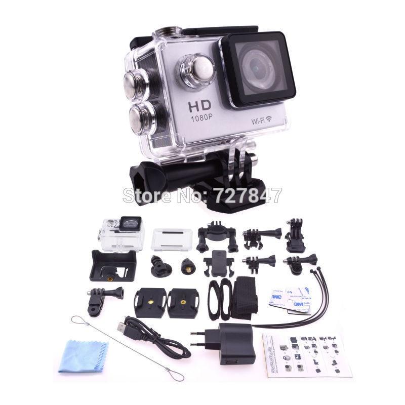NEW Black 1080P HD 12MP Wifi Sports DV Action Waterproof Camera for SJ4000 f88 action camera black