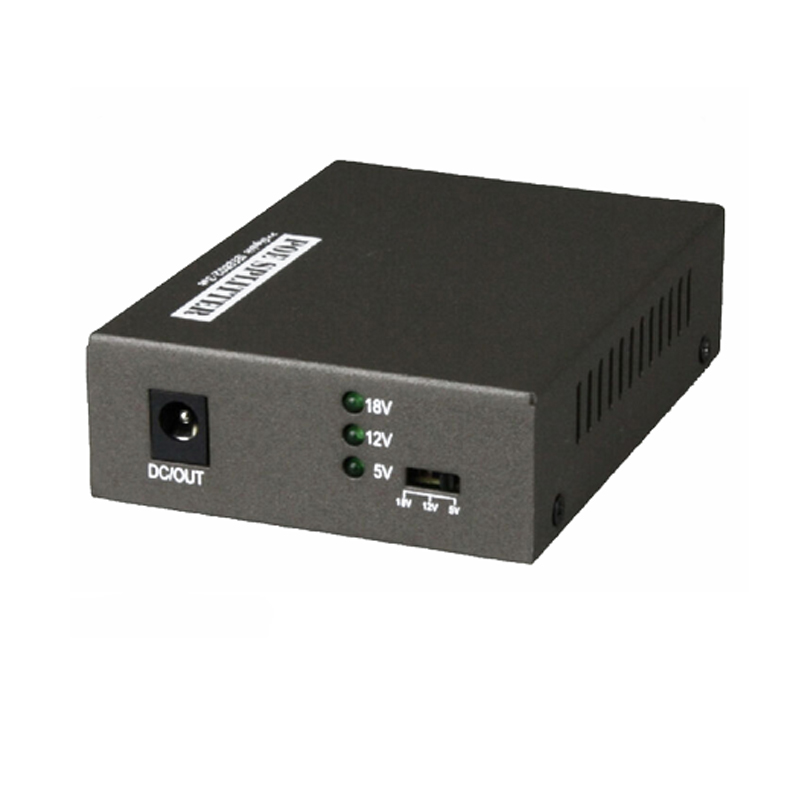 Free Shiping 10/100/1000 Mbps Data Rate Gigabit IEEE802.3at PoE Splitter Adapter 5V(3.5A),12V(2A)  Power Output Optional