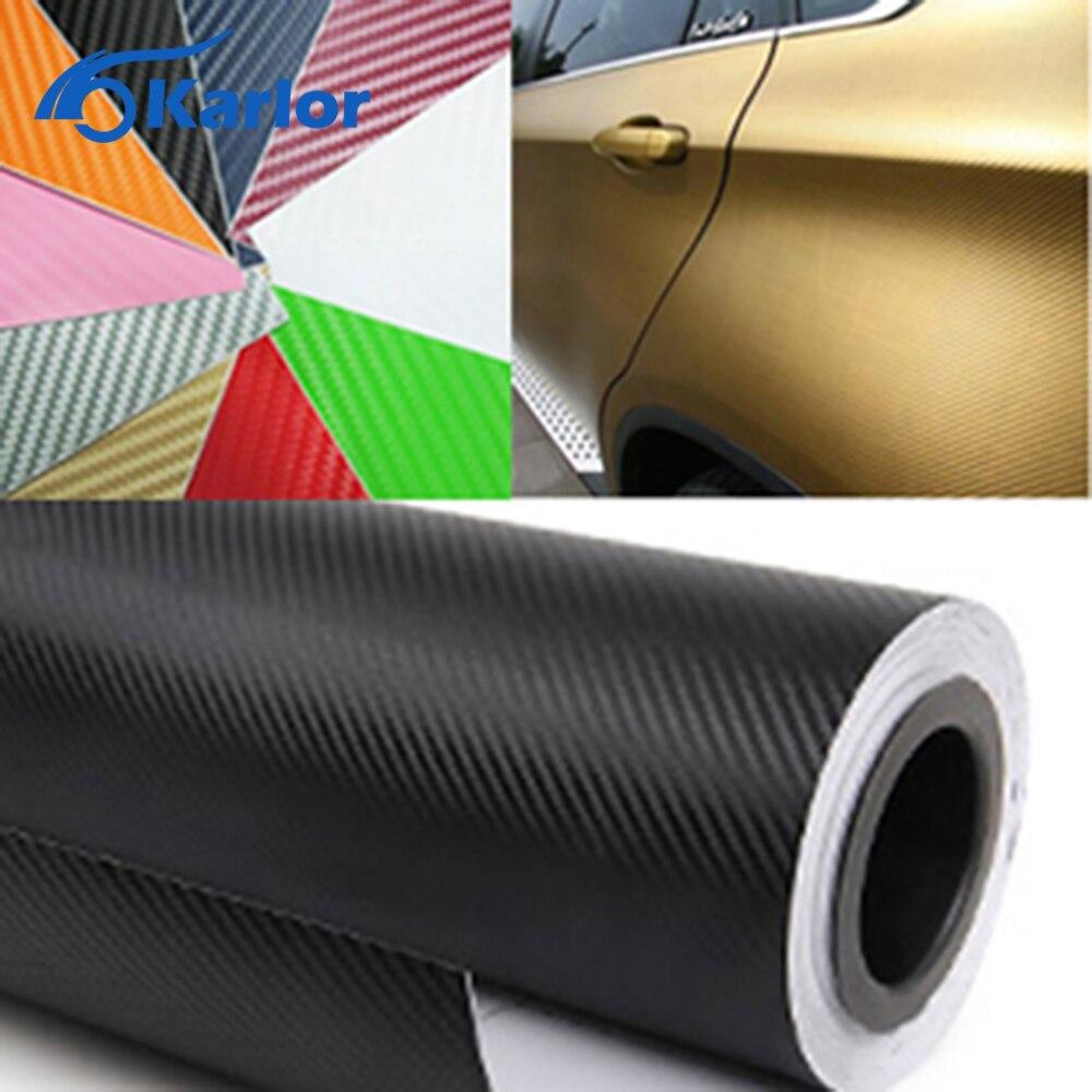 300cmx60cm Waterproof DIY Car Stickers Decor Car Styling 3D 3M Auto Vehicle Car Carbon Fiber Vinyl
