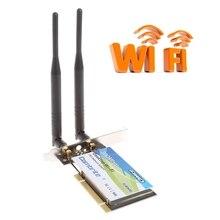 2018 высокое качество BCM4322 300 Мбит/с 2,4 г беспроводной WLAN WiFi PCI-E карты переходник настольный с 6dBi антенна WiFi высокой Скорость