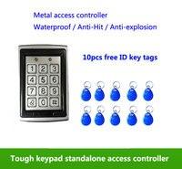 Metal Waterproof Access Control 125K RFID Card Reader Keypad Standalone Access Control 2pcs Mother Card 10pcs