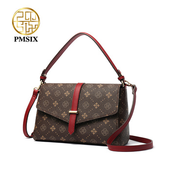 PMSIX Simple Vintage Floral Printing Small women Handbags Street Fashion Shoulder Bag Casual Crossbody Bags