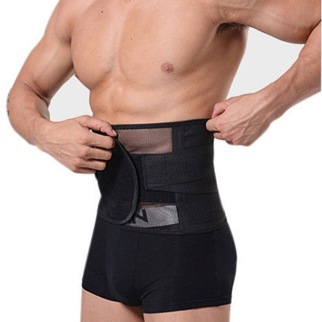 New Adjustable Men Waistband Belly Waist Shaper Belt Abdomen Tummy Trimmer Cincher Girdle Burn Fat Body Shaping Supports Braces 1