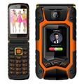 MAFAM Land rover X9 dual Screen dual SIM celular Tapa con una sola tecla la respuesta de llamada de espera largo alto Robusto teléfono móvil de pantalla táctil P008
