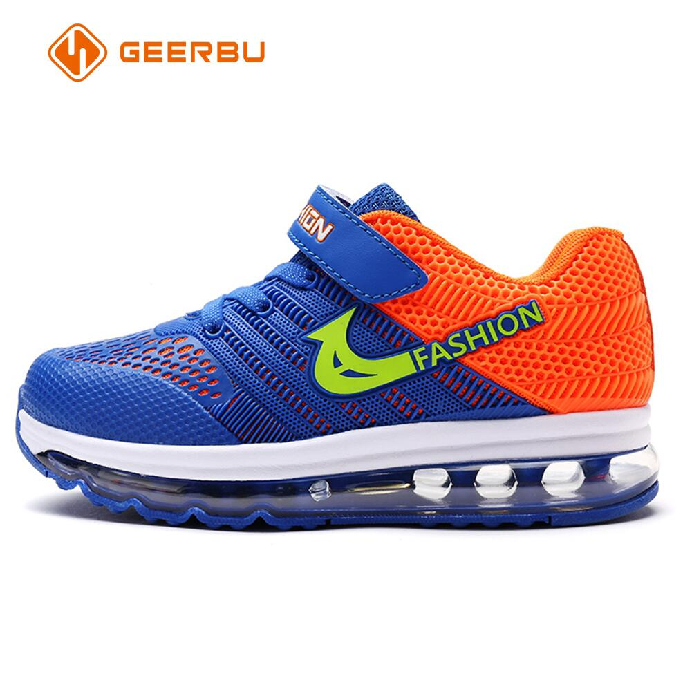 GEERBU 2017 New Design Children sport running shoe boys girls air cushion shoes women comfortable breathable kids sneakers
