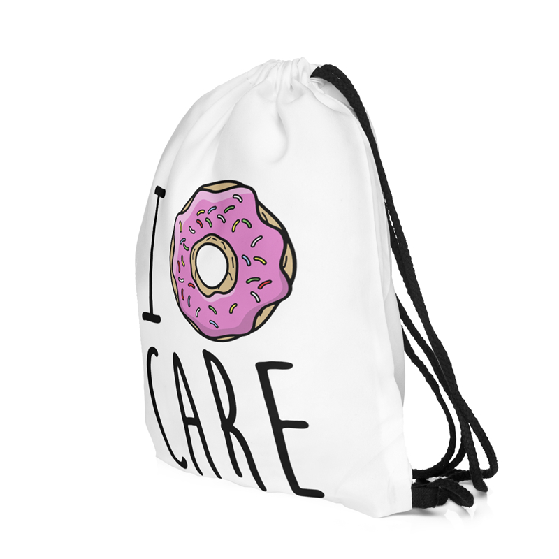 2016 new fashion escolar backpack 3D printing travel softback women mochila donut drawstring bag backpacks for teenage girls