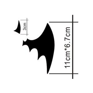Image 2 - 11*6.7 CM Batman Yarasa Logo Yansıtıcı Araba Çıkartmaları Kişiselleştirilmiş Araba Çıkartmaları Kapak Çizikler Volkswagen Için Siyah Gümüş # b1327