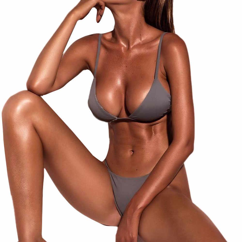 무료 타조 수영복 여성 플러스 사이즈 femme 9 색 푸시 업 패딩 브래지어 비치 비키니 세트 섹시한 브래지어 투피스 세트 핫 세일