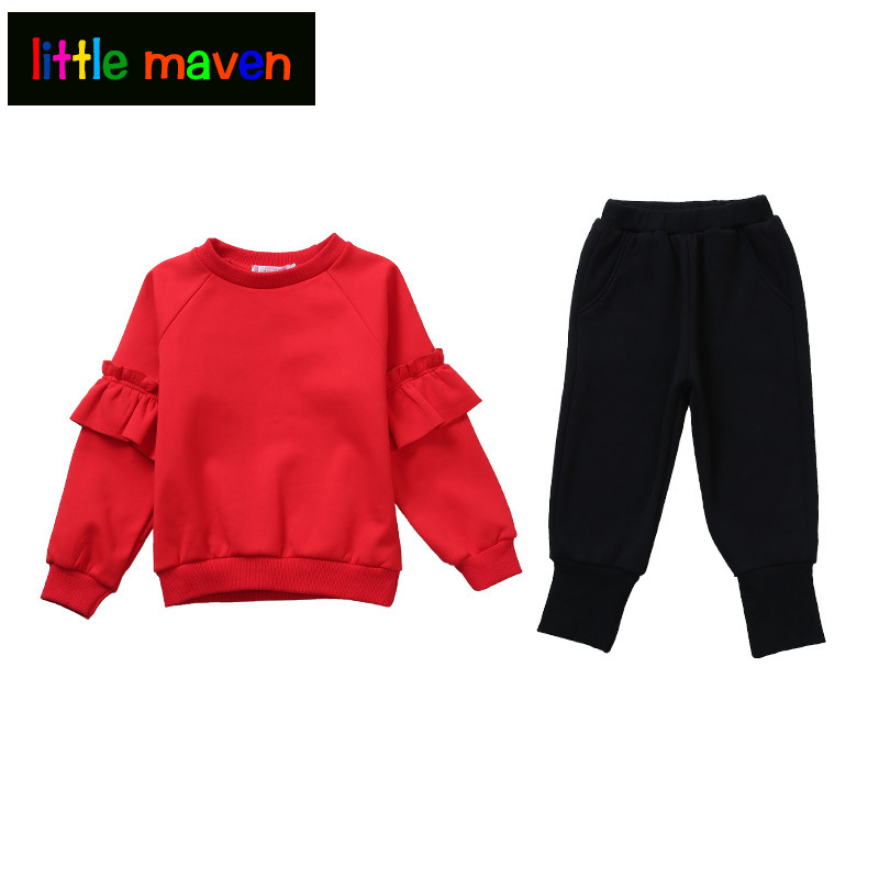 Girls Clothing Set for Spring Autumn Sollid Tracksuit For Girls 4-12yrs Teens Kids' things 2018 New Haron Pant+Blouse in 2pcs