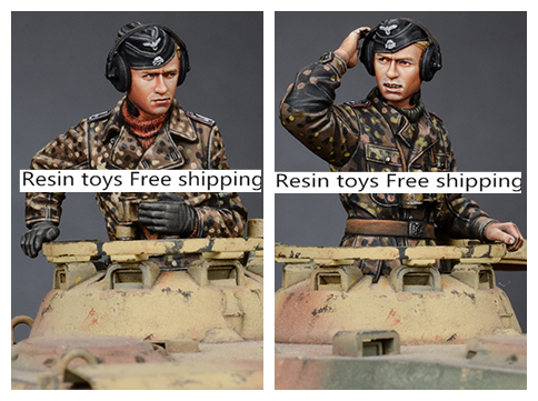 pre order-Resin toys 35189 WSS Panzer Commander Set Free shipping