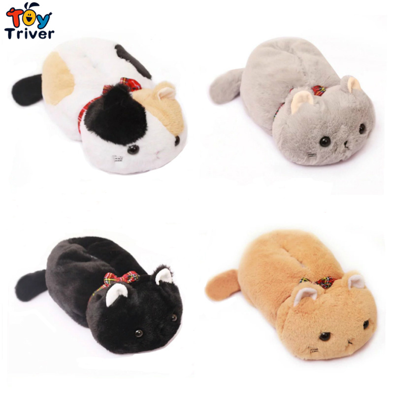 30cm Kawaii Cartoon Japan Cats Kuro Mikenezumi Plush Animal Cat Shaped Tissue Box Case Napkin Paper Holder Home Shop Decor partol removable car tissue box car sun visor tissue paper holder cartoon auto seat back armrest hanging paper napkin container