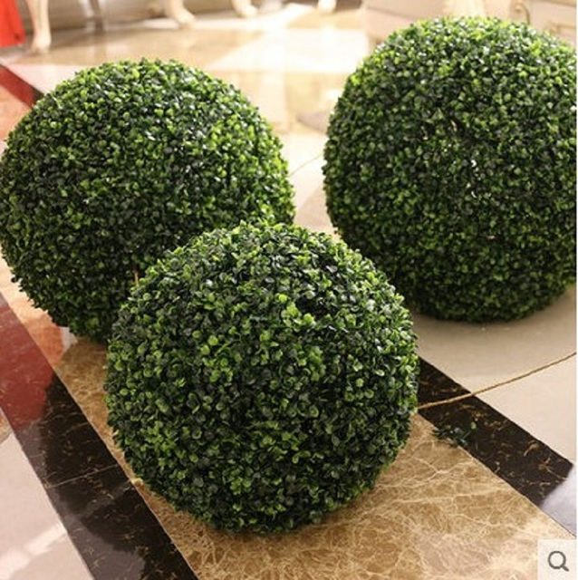Cammitever Wedding Arrangement Artificial Garden Gr Buxus Boxwood Topiary Landscape Fake Trees Pots Plants