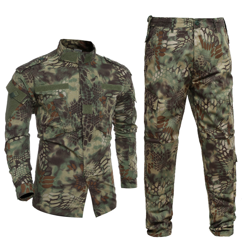US Army Military Uniform Rattlesnake Camo Shooter Jacket Mens Python Grain Tactical Sets Man Jacket And Pants