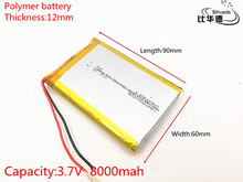 126090 3.7 V lithium polymer 8000 mah DIY mobile emergency power charging battery