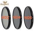 KnightX ND2 ND4 ND8 Фильтр НЕЙТРАЛЬНОЙ ПЛОТНОСТИ объектива 52 мм 58 мм 67 мм Нейтральный плотности для Canon nikon sony 70d D7200 D7100 D5200 D5300 D3300 D3200