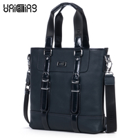 Classic cowhide texture clipping design top layer cowhide genuine leather men casual business handbag men leather crossbody bag