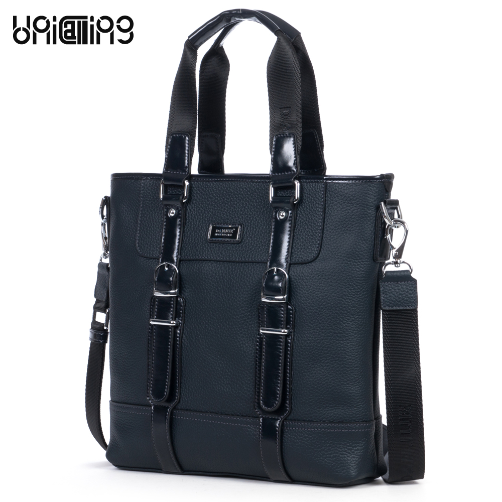 Classic cowhide texture clipping design top layer cowhide genuine leather men casual business handbag men leather crossbody bag 247 classic leather