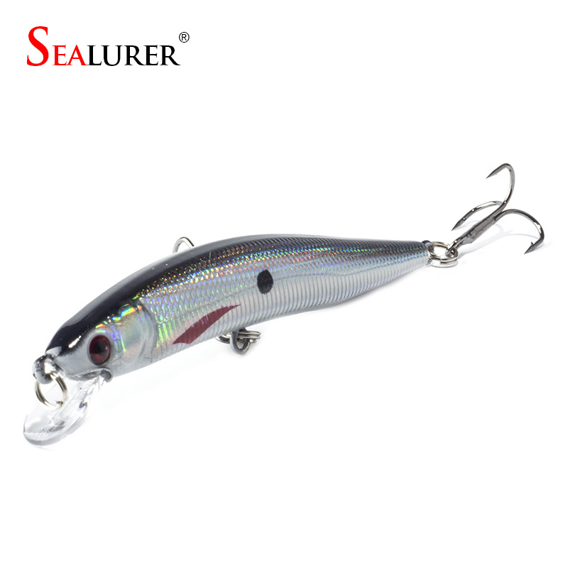 Sealurer Floating Fishing Lures 10CM 7.5G Minnow Wobbler Hard Bait Pesca Carp Isca Crankbait 1pcs / lot Fiskegrej