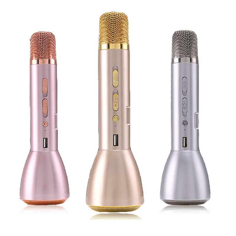 2019 Portable Party Karaoke Wireless Microphone Professional Freestyle Handheld Mic Speaker 2000mah Chargeable Live Equipment